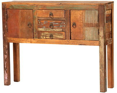"""40"""" L Logan Small Console distressed finish reclaimed wood hand crafted"""