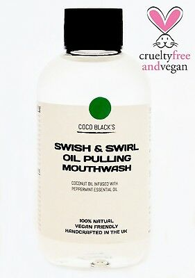 250ml Coconut Oil Pulling Mouthwash with Peppermint Essential Oil *100% Natural