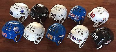 **10 Vintage New Super Rare Wayne Gretzky Game Issued Jofa Collectible Helmets**