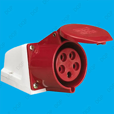 16A 415V IP44 Industrial Commercial Ceeform 3 Phase 5 Pin Heavy Duty Socket