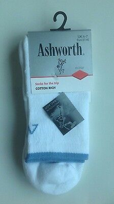 Limited Edition Ashworth Ladies White Golf Socks - Size UK 4 5 6 7
