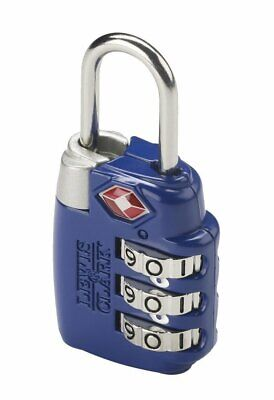 Lewis N. Clark Travel Sentry Large 3-Dial Combination Lock, Blue #TSA23BLU