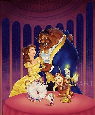 Beauty And The Beast Textless Disney Movie Poster Film A4 A3 Art Print Cinema