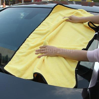 Large Microfiber Car Cleaning Towel Wash Washing Drying Cloths 92*56 Yellow H3M9