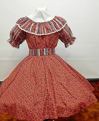 2 Piece Country Print Square Dance Dress