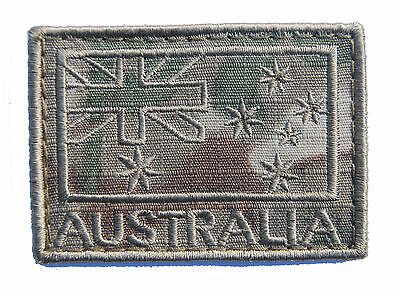Australian Flag Patch - Multicam Subdued Finish - New