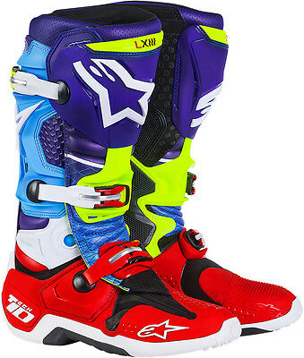 Alpinestars Tech 10 Offroad Venom Motocross Boots Blue/Green/Red All Sizes