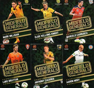 2015/16 TapNPlay FFA & A-League Soccer Midfield Generals 12-Card Insert Set