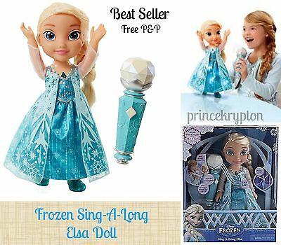 Frozen Sing-A-Long Elsa Doll Christmas Gift-Best Seller Free P&P Stocks are Low