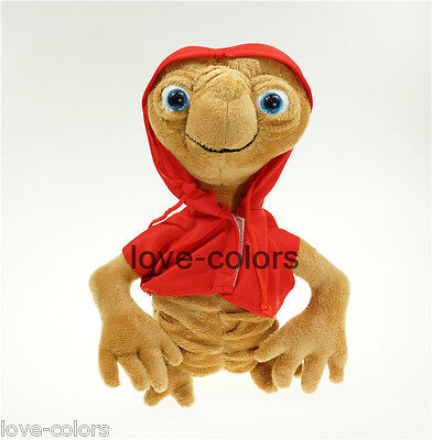 """New ET Extra Terrestrial Movie in red coat soft Stuffed plush doll toy 20cm 7.9"""""""