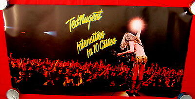 Ted Nugent 1981 poster mint condition INTENSITIES IN TEN CITIES