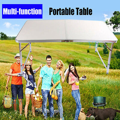 4FT Portable Folding Camping Picnic Table Party Outdoor Garden BBQ Dining desk