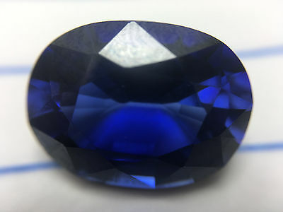 10.72 cts GLC Oval-cut Superior-luster IF Blue Sapphire