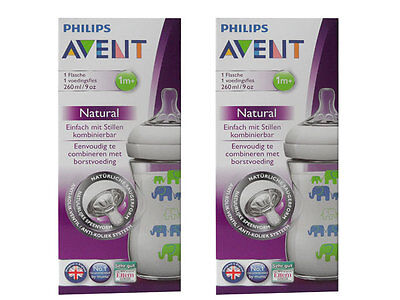 2x Philips Avent SCF627/17 botella natunah 260 ml Plástico,