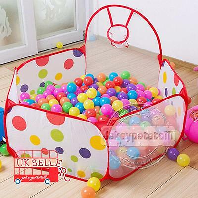 Foldable Portable Kids Children Play Toy Tent Ocean Ball Pit Pool Indoor Outdoor
