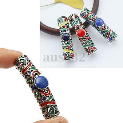 3pcs Plating Alloy Colorful Dreadlock Beads Jewelry Accessories 7.5mm Hole