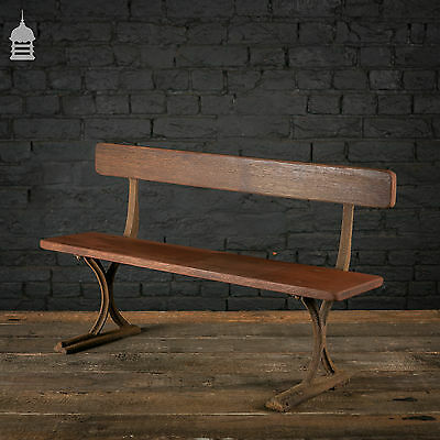 19th C Childs Mahogany Bench with Cast Iron Frame