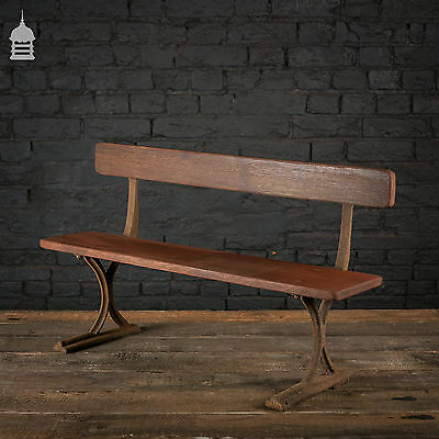 19th C Childs Mahogany Bench with Cast Iron Frame • £270.00
