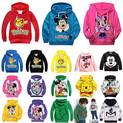 Baby Kids Boy Toddler Hoodies Tracksuit Children Clothing Set Pikachu Suit 2-10Y