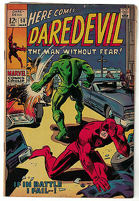 Marvel Comics DAREDEVIL Issue 50 If In Battle I Fall! VG+