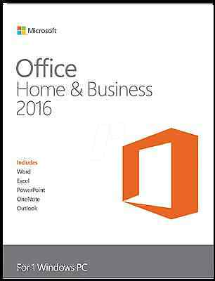 MICROSOFT OFFICE 2016 Home and Business 32/64 BIT FULL RETAIL  ESD ORIGINALE
