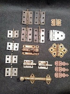Antique Vintage Metal Hinges Hardware Locks Cabinets Ornamental Decorative