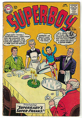 DC Comics SUPERBOY Number 112 Superbaby's Super-Pranks! VG+