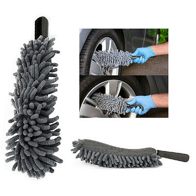 FLEXIBLE Long Mircofibre Noodle Chenille Alloy Wheel Cleaner Car Wash Brush