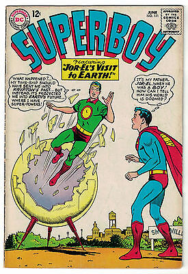 DC Comics SUPERBOY Number 121 Jor-El's Visit To Earth! VG/F