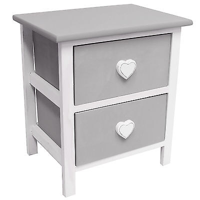 Sale Hartleys 2 Drawer Heart Bedside Cabinet/bedroom - Damaged Packet #814