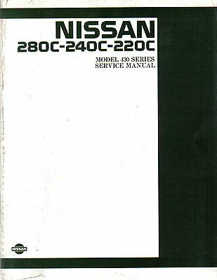 Nissan 280C-240C-220C 1980-84 Model 430 original Service Manual (Workshop)