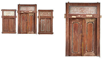 """59"""" L Madison antique door with frame hand made distressed paint finish unique"""