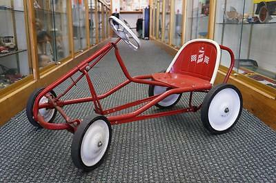Vintage Murry Hot Tot Rod Red And White Children Pedal Race Car Original
