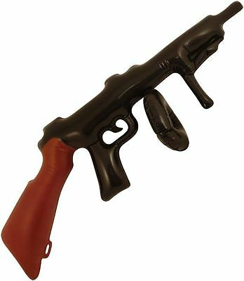 Inflatable Tommy Gun 80Cm Blow Up Fancy Dress Party Novelty Gangster Toy 20's