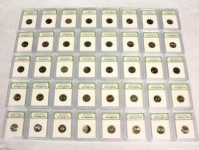 Collectors Lot of 40 All Different Slabbed BU & Proof Jefferson Nickels
