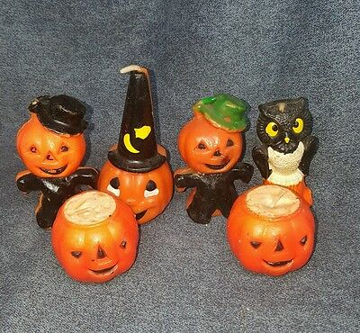 Vintage Gurley Halloween Candle Lot - lot d2d