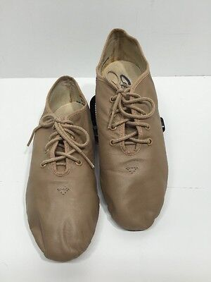 CAPEZIO LEATHER LACE UP OXFORD JAZZ DANCE SHOE TAN size 6.5 M