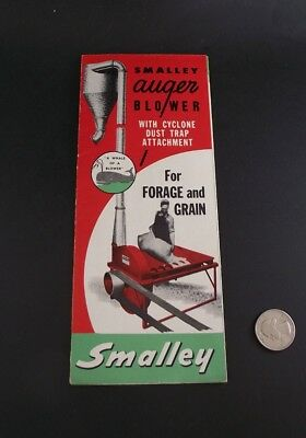 Smalley Auger Blower 1946 Industrial Farm Brochure 1948 Printed Usa