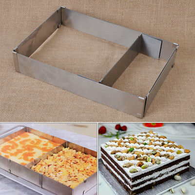 Flexible Stainless Steel Rectangle Mousse Cake Ring Baking Tools Mousse Mould