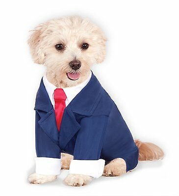 Business Suit with Tie Pet Costume - 5 Sizes Dog Cat Halloween Dress Up fnt