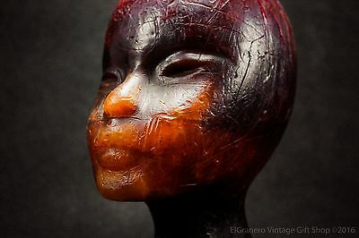 Art VINTAGE Wax HEAD - 1970s candle head- very rare hand made - Monster weekend!