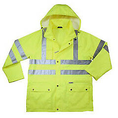 ANSI Class 3 Reflective Mens Work Jacket by Ergodyne - Lime - 3XL