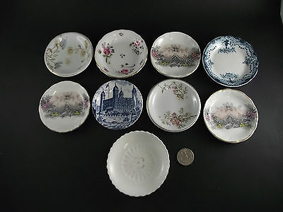 9 Butter Pat Collection Royal Homes Of Britain Royal Chelsea Tea Leaf Bishop Etc