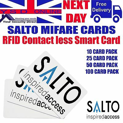 Salto Access Control Card PCM01KB  Pack Of 10 - 25 - 50 - 100   1KB  RFID Cards