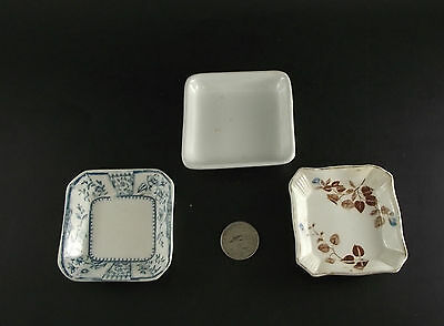 3 Square  Butter Pat Collection Ridgways Orleans  Etc