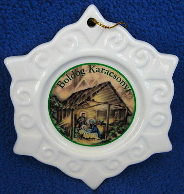 Hungary Hungarian Nativity Christmas Ornament - Personalized