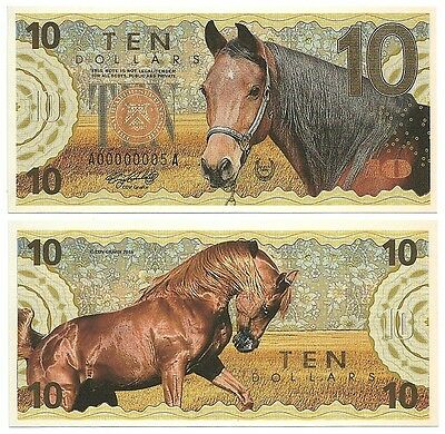10 Dollars - Horse - 2016 UNC (Private Issue - Fantasy Note)