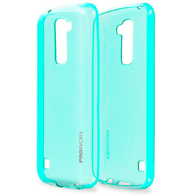 For LG K10 Premier PROWORX Premium TPU Rubber Case Cover Mint Green