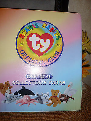 Ty Beanie Babies Official Club Notebook Official Collector's ALBUM + 104 CARDS