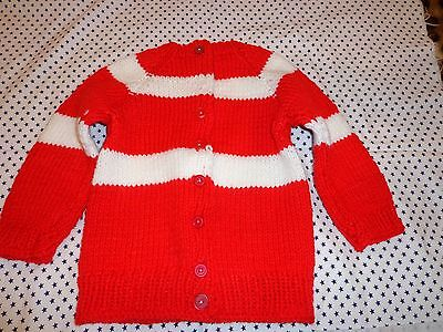 beautiful hand made sweater multi color size 4 for girls.